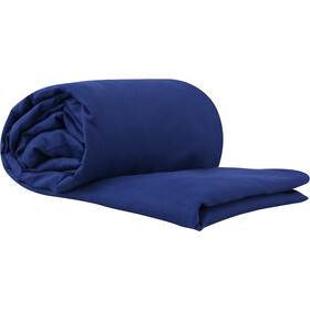 Sea to Summit Silk/Cotton Travel Liner Double, navy blue